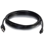 C2G 1ft USB A to Micro USB B Black Cable M/M - 27423