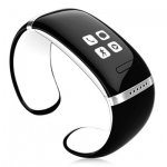 Trendy Style L12S OLED Bluetooth Smart Bracelet Watch with Call ID Display / Answer / Dial / SMS Sync / Music Player / Anti-lost Function for Samsung / HTC + More   -  WHITE