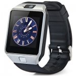 DZ09 Single SIM Smart Watch Phone   -  SILVER