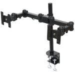 Double LCD Monitor Hinged Pole Mount