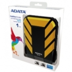 "ADATA DashDrive Yellow Durable 2.5"" PORTABLE HDD 1TB with USB 3.0"