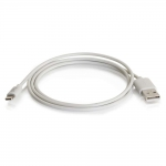1m USB A Male to Lightning Male Sync and Charging Cable - White (3.3ft) - 35498