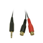 RCA to Headphone Audio Adapter 3.5mm/ 2 RCA MF- 6
