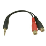 RCA to Headphone Audio Adapter 3.5mm/2 RCA MF- 6""
