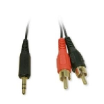 RCA to Headphone Audio Adapter 3.5mm/2 RCA MM- 6