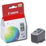 Canon #51 Color Ink Cartridge for Pixma IP2200, IP6210D, MP150, MP170, MP450