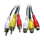 Composite A/V Cable M/F- 10