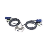 IOGear 2 Port USB Micro KVM Switch w Audio