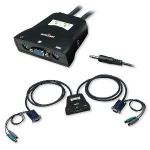 Intellinet 2 Port Mini PS/2 KVM Switch - Black