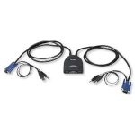 Intellinet 2 Port Mini USB KVM with Audio