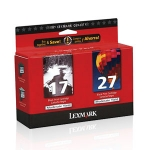 Lexmark #17 Black & #27 Colour Combo Pack
