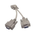 6IN VGA M/F/F Y-Splitter Cable