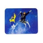 Manhattan Skier Mouse Pad