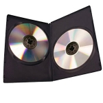 Plastic Dual DVD cases w/ Glossy Cover 100pk.- Case
