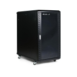 22U 36in Knock-Down Server Rack Cabinet with Casters