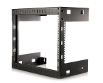 8U Open Frame Wall Mount Equipment Rack - 12in Deep