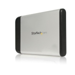 StarTech.com 2.5in Silver USB 2.0 External Hard Drive Enclosure for SATA HDD - SAT2510U2
