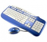 Saitek Keyboard and Mouse Combo - Blue - PK09AUb