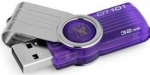 Kingston DataTraveler 101 G2 32GB Capless USB Flash Drive Purple