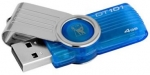 Kingston DataTraveler 101 G2 4GB Capless USB Flash Drive Blue