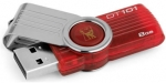 Kingston DataTraveler 101 G2 8GB Capless USB Flash Drive Red