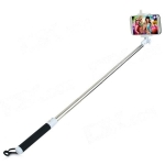 Handheld Bluetooth Selfie Telescopic Monopod w/ Holder / Strap - Black + White - 365608