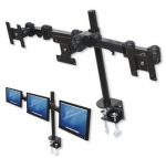 Triple LCD Monitor Hinged Pole Mount