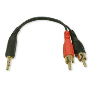 RCA to Headphone Audio Adapter 3.5mm/2 RCA MM- 6""