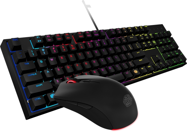 Cooler Master Masterkeys Lite L Intelligent RGB Keyboard and Mouse Combo - SGB3040KKMF1US