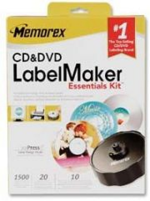 Memorex CD/DVD/Blu-Ray Label Maker Essentials Kit