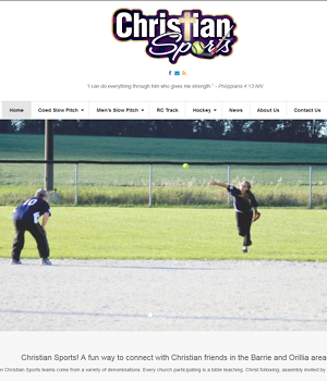 Christian Sports - Responsive WordPress Website