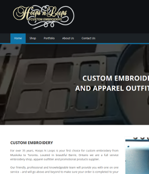 Hoops N Loops - Responsive WordPress Website