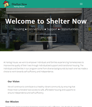 Shelter Now - Responsive WordPress Website