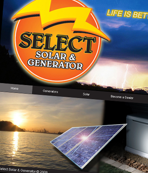 Select Solar & Generator - Static HTML & CSS Website
