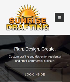 Sunrise Drafting - Responsive WordPress Website
