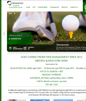 Trehaven Golf - WordPress Website